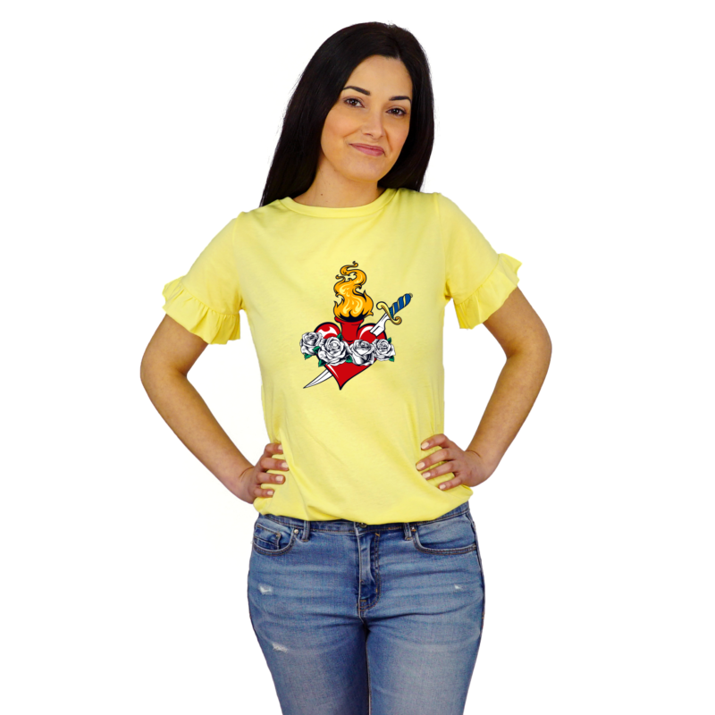T-Shirt Donna Immacolate Heart Gialla